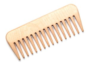 Wooden wide tooth comb